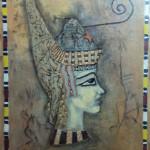 Dmytrenko Olga - Red Pharaon - 61x45 - acrilico su tela